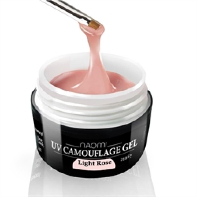 Камуфляжный Гель Naomi - UV Camouflage Gel Light Rose 28 гр (светло розовый) фото, цена