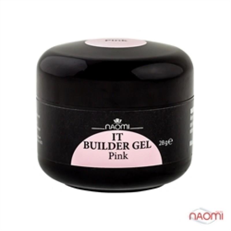 Строительный гель Naomi - UV IT Builder, 28 гр Pink (розовый) фото, цена