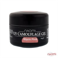 Камуфляжный Гель Naomi UV Camouflage Gel Warm Pink, 14гр