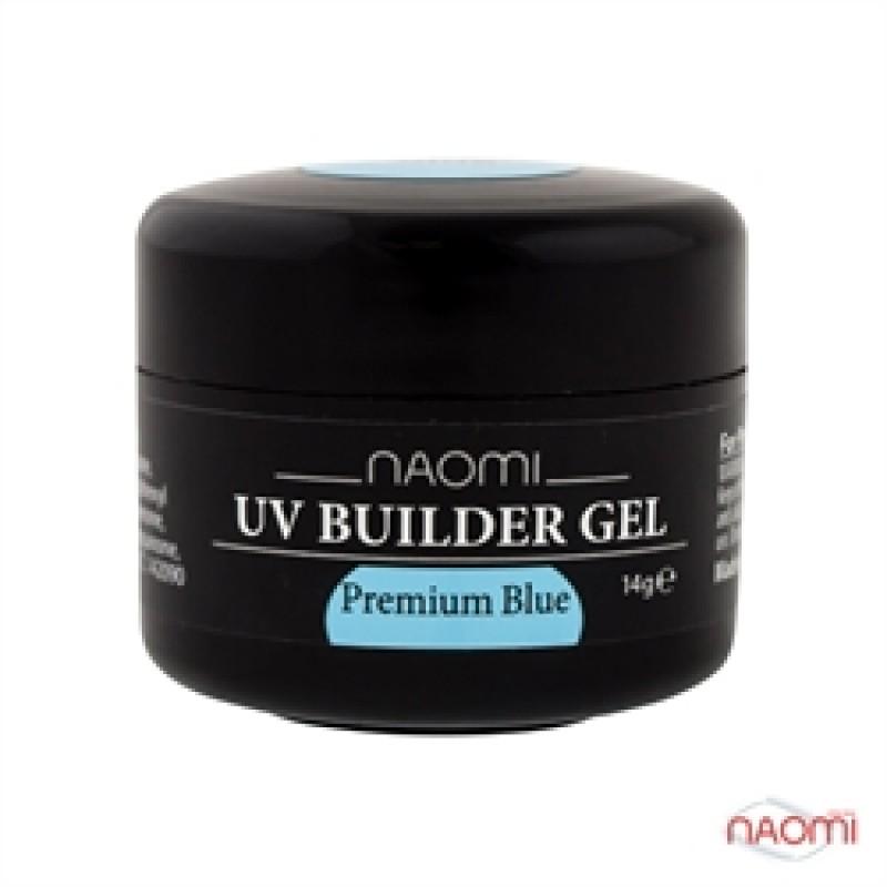 Строительный Гель Naomi UV Builder Gel Premium Blue, 14гр фото, цена