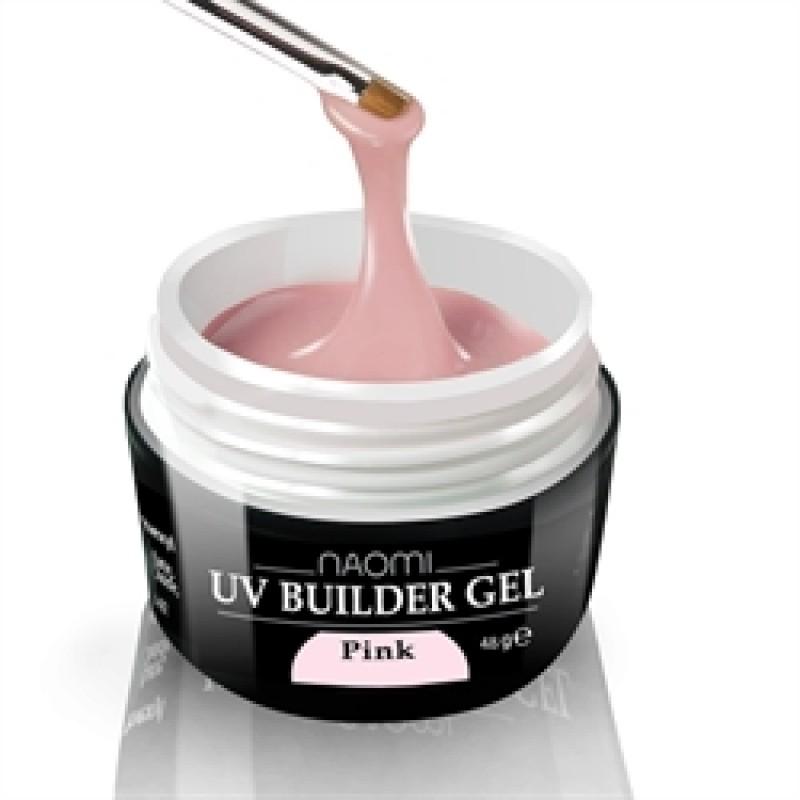 Строительный гель - Naomi UV Builder Gel Pink 14 гр. (розовый) фото, цена