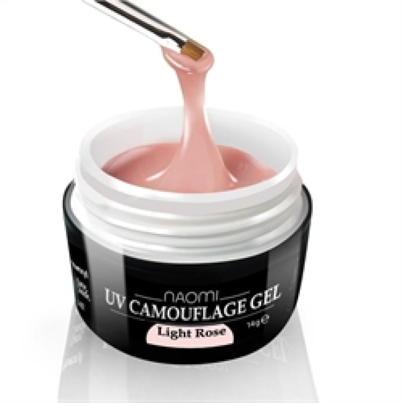 Камуфляжный Гель Naomi - UV Camouflage Gel Light Rose 14 гр (светло розовый) фото, цена