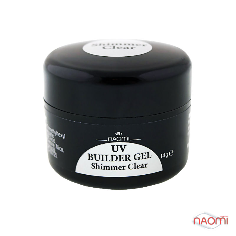 Гель Naomi UV Builder Gel Shimmer Clear, 14гр фото, цена