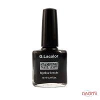 Лак для ногтей для стемпинга 10 мл G. Lacolor 001