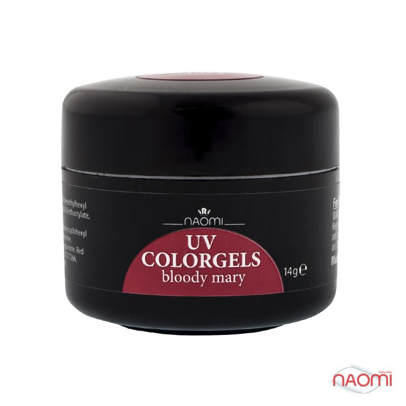 Цветной Гель Naomi UV Colorgels Bloody Mary, 14гр фото, цена