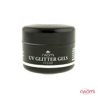 Гель Naomi UV Glitter Gel Clear, 14гр