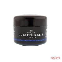 Гель Naomi UV Glitter Gel Dark Blue, 14гр