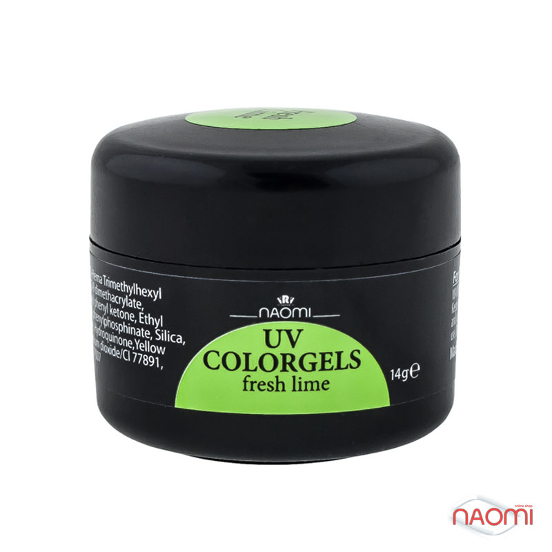 Гель Naomi UV Colorgels Fresh Lime, 14гр фото, цена