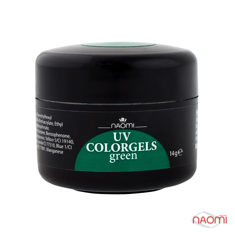 Цветные Гель Naomi UV Colorgels Green, 14гр фото, цена